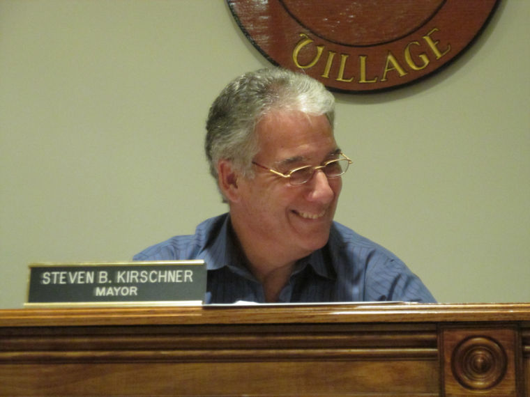Russell Gardens Mayor Steven Kirschner, as seen at a previous meeting. (Photo by Joe Nikic)