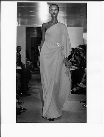 12-Halston Original, Iman, jersey dress, spring 1976