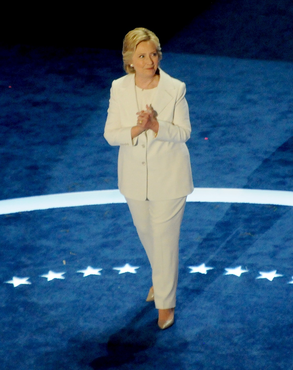 Historic nomination of Hillary Rodham Clinton for President by Democratic party, at Democratic National Convention in Philadelphia, July 2016.