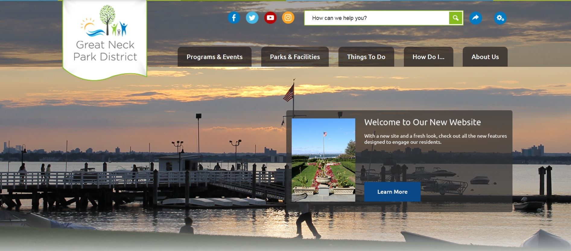 Great Neck Park District launches new website