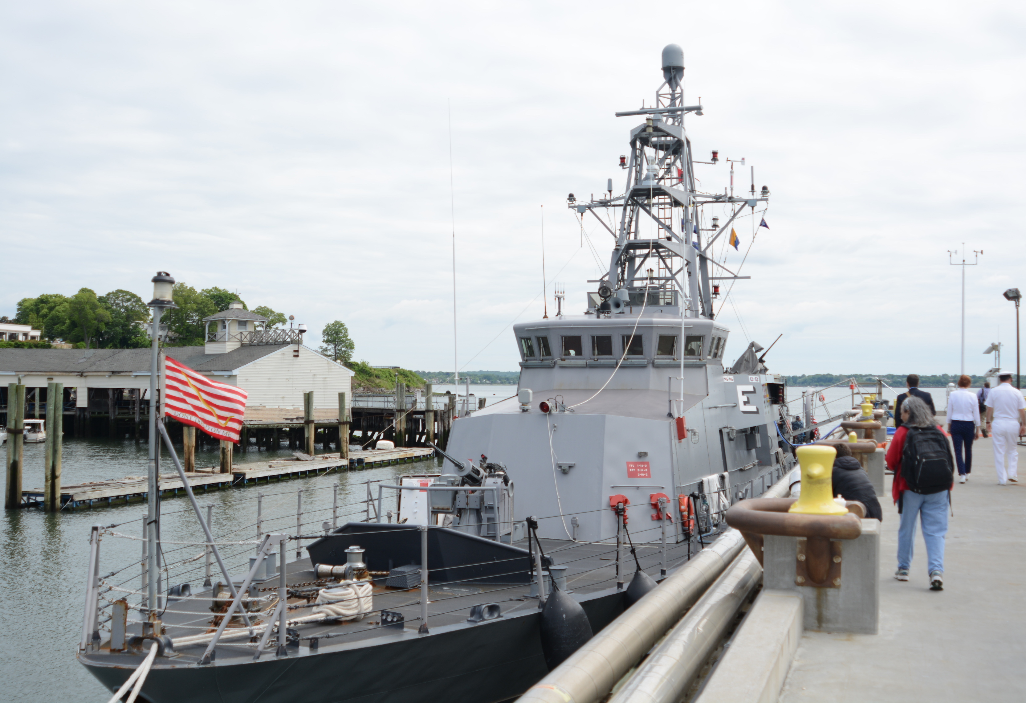 The USS Zephyr docked ashore at Kings Point in 2017. (Photo by Janelle Clausen)