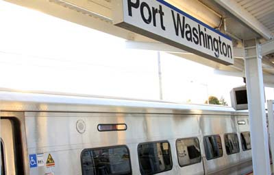"The Port Washington branch fared well relative to other LIRR branches so far, with 87.7 percent of its January trains being reported as ""on-time."" (Photo from the MTA)"