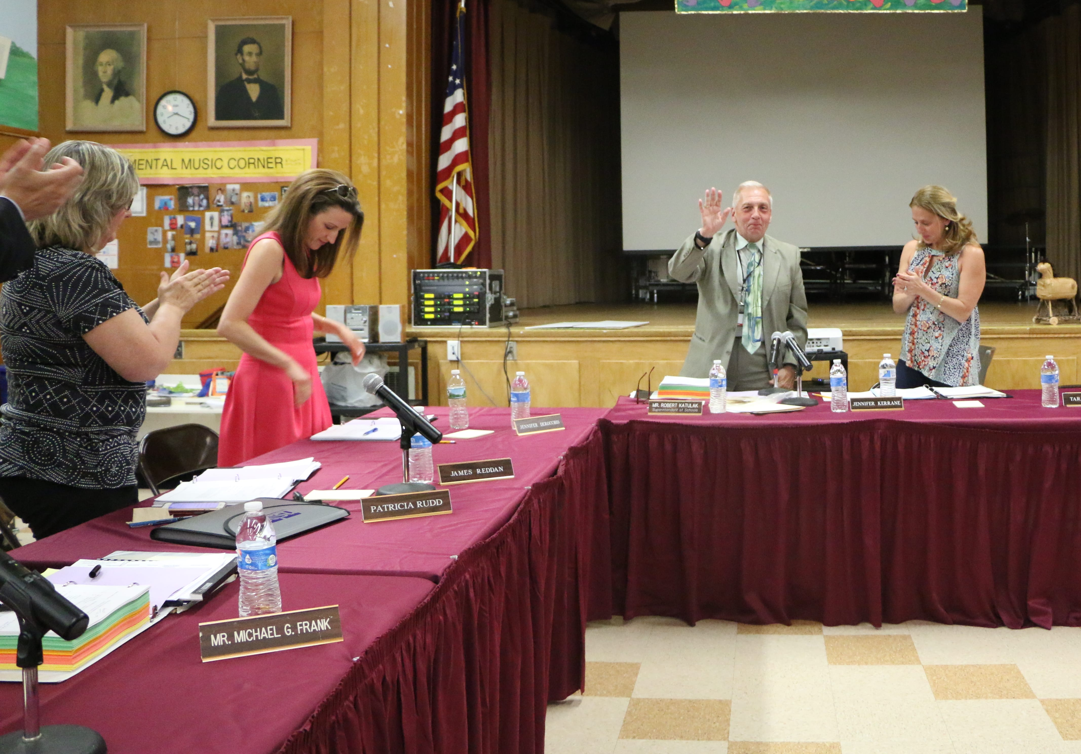 New Hyde Park Garden City Park Ed Board Says Farewell To Retiring Superintendent The Island Now