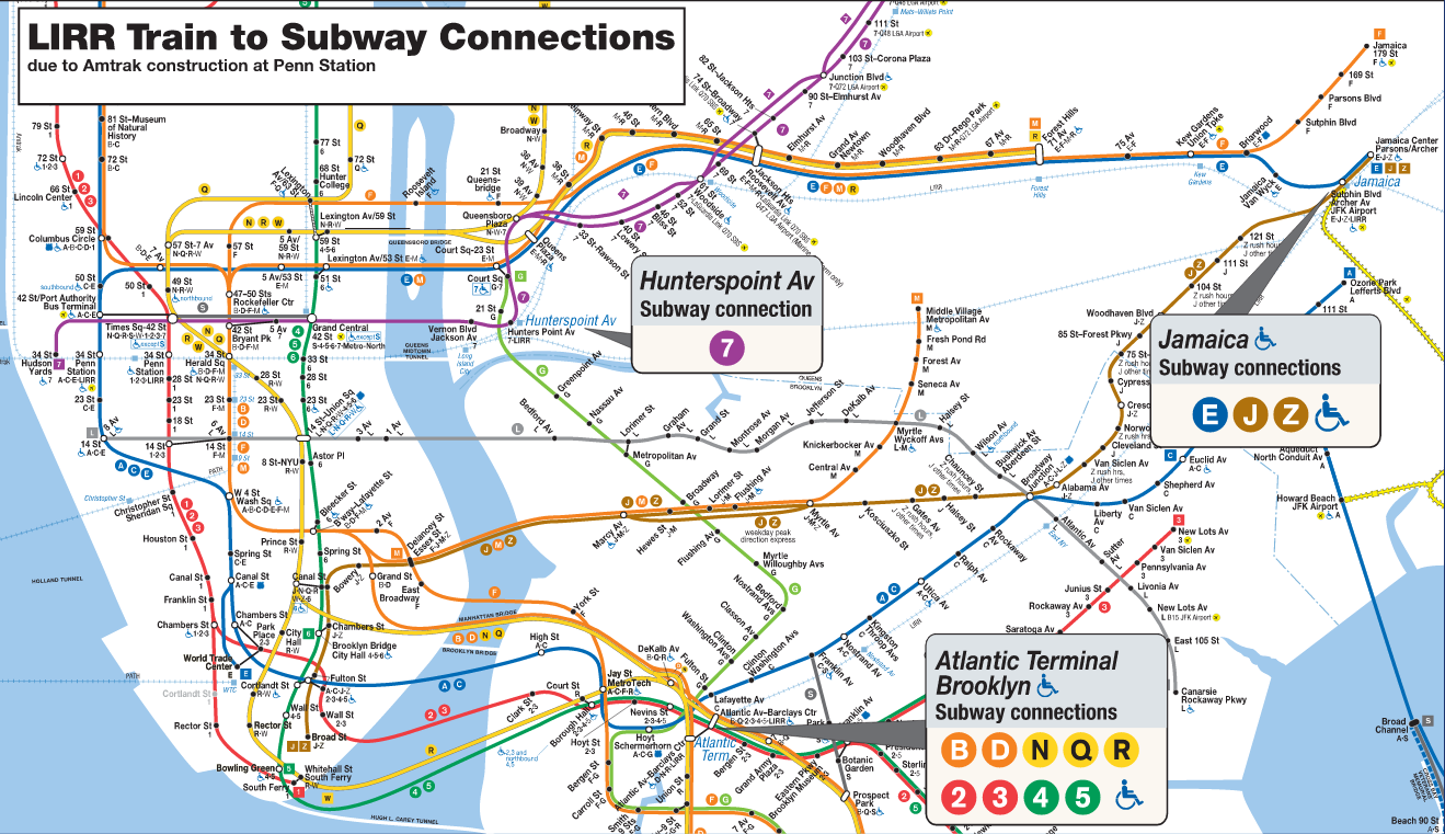 Lirr Subway Map