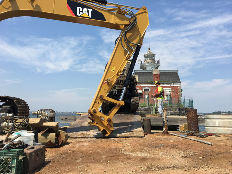 Stage set for lighthouse dock construction, town says
