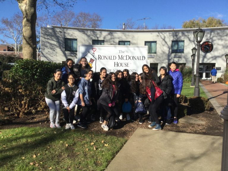 North Middle School students volunteer at Ronald McDonald House