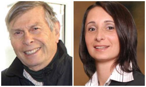 Daniel Nachmanoff amd Tina Stellato, candidates for park commissioner