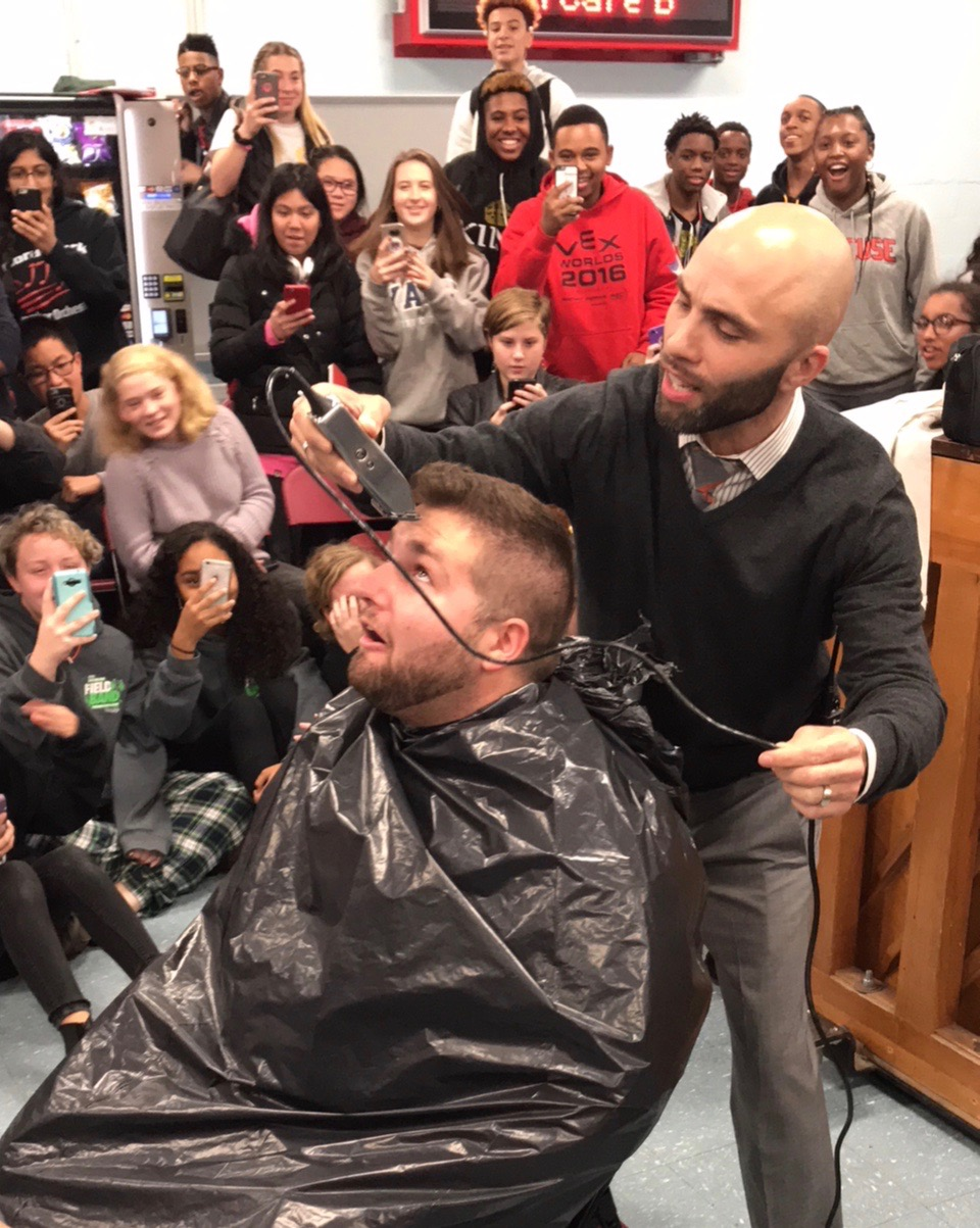 Floral Park Band Director Gets A Special Haircut The Island Now