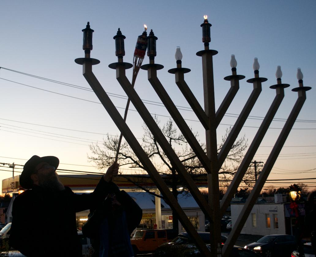Supervisor Judi Bosworth And Rabbi Shalom Paltiel Light The Menorah ...