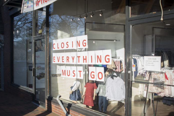 MMKidz, a clothing store that opened in Great Neck Plaza earlier this year, announced that it will be closing. (Photo by Janelle Clausen)