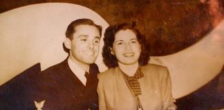 Dave & Dorothy Roberts in 1945, the year they married. (Photo courtesy of Temple Emanuel)