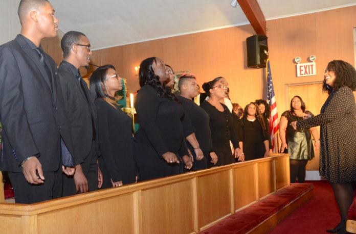 Choirs sang uplifting songs like