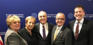 Deborah Girgenti, Assemblyman D'Urso's Albany office director; Maria D'Urso; NYS Comptroller Thomas DiNapoli; Assemblyman Anthony D'Urso and Great Neck Attorney Michael Weinstock.(Photo courtesy of Assemblyman Anthony D'Urso's office)