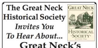 The Great Neck Historical Society invites the public to hear what has attracted the Chinese and Persian communities to Great Neck. (Flyer courtesy of the Great Neck Historical Society)
