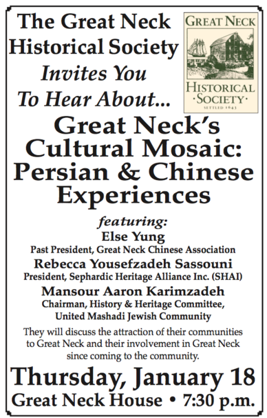 Chinese and Persian community reps to explain Great Neck's appeal