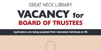The Great Neck Library is seeking candidates to run for a trustee seat. (Photo from the Great Neck Library)