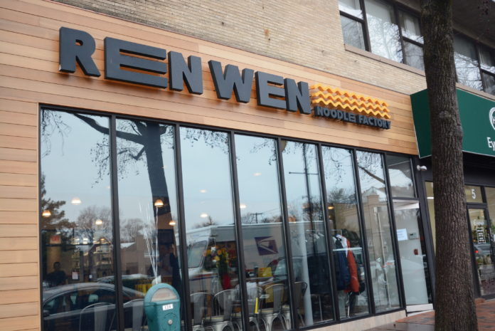 Ren Wen Noodle Factory held a ribbon cutting on March 2, in hopes of bringing Great Neck residents together around quality noodles. (Photo by Janelle Clausen)