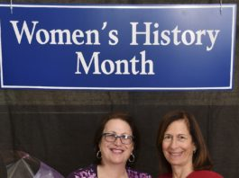 GNWPCD Commissioner Patty Katz and Nassau County Legislator Ellen Birnbaum stand together during the recent Nassau County Legislature's 20th Annual Women's History Awards Ceremony. (Photo courtesy of Ellen Birnbaum's office)