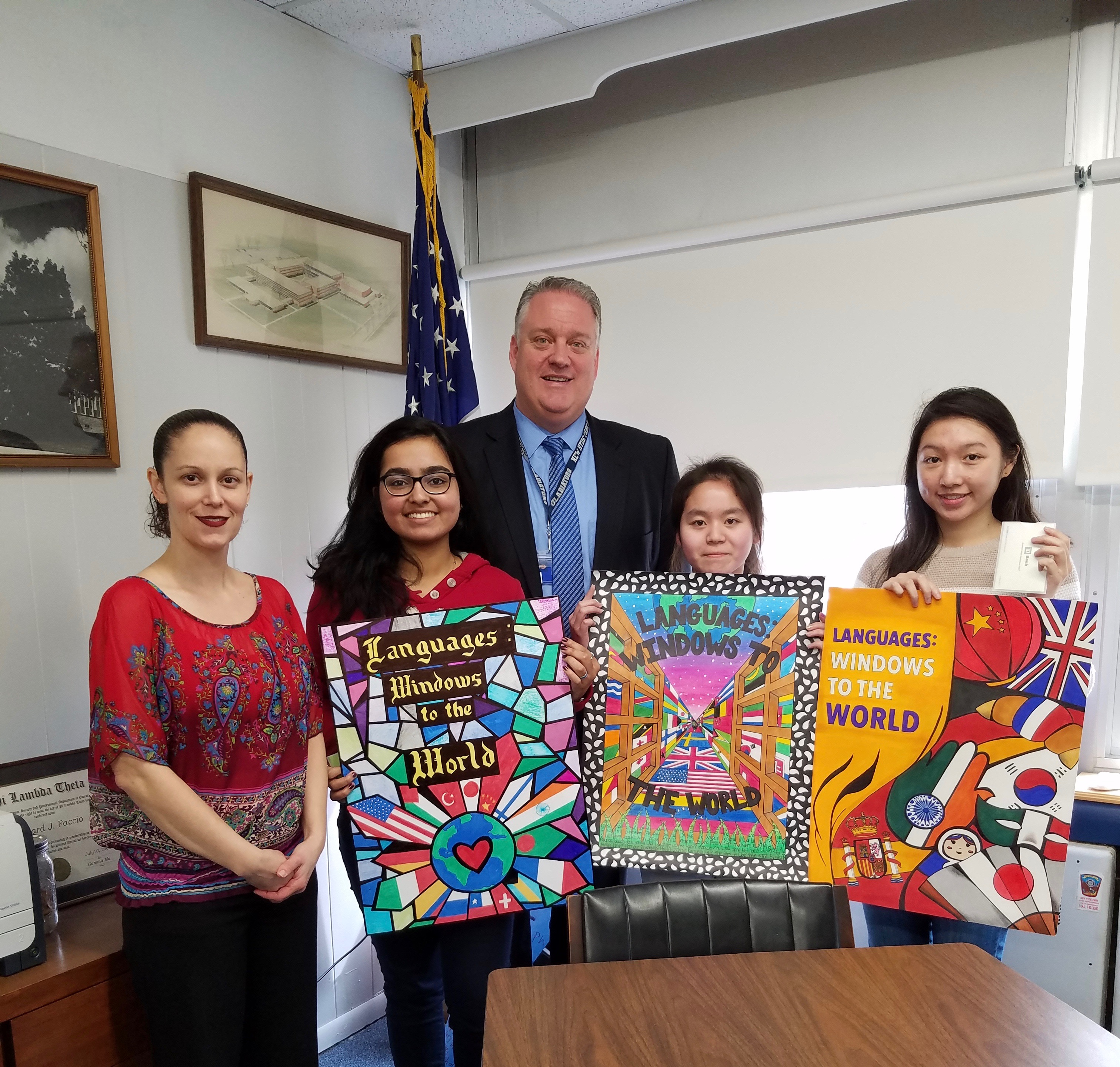 New Hyde Park Hosts World Language Week Poster Contest School News The Island Now