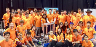 "The South High ""Rebellion"" was among the top teams in a national robotics competition. (Photo courtesy of the Great Neck Public Schools)"