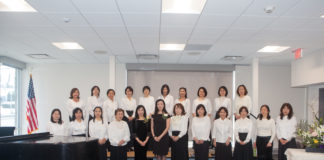 The Sakura Chorus will perform a variety of Japanese and classical favorites accompanied by piano at their 35th annual concert, at the Main Library. (Photo courtesy of the Great Neck Library)
