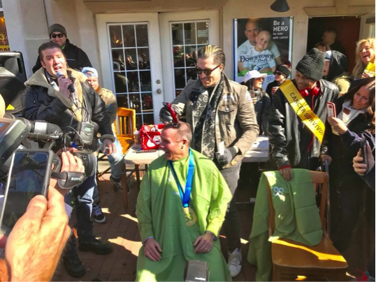Suozzi shaves head to raise money for cancer - The Island Now
