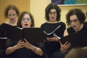 A group of women practice together. (Photo by Janelle Clausen)
