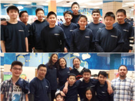 Math teams from South Middle and North Middle at the MATHCOUNTS competition at North Middle School on Feb. 3. (Photo courtesy of the Great Neck Public Schools)