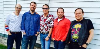 Matthew Winthrop, in center, will be playing with his band Terrapin at the Great Neck House on Sunday, April 15. (Photo courtesy of Matthew Winthrop)