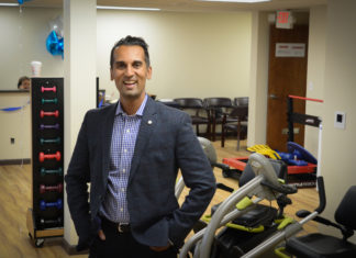 Dr. Vinod Somareddy, the founder of Reddy-Care Physical Therapy in Great Neck, said the expansion will allow the company to treat more patients. (Photo by Janelle Clausen)