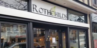 Rothchilds is open for business. (Photo by Janelle Clausen)