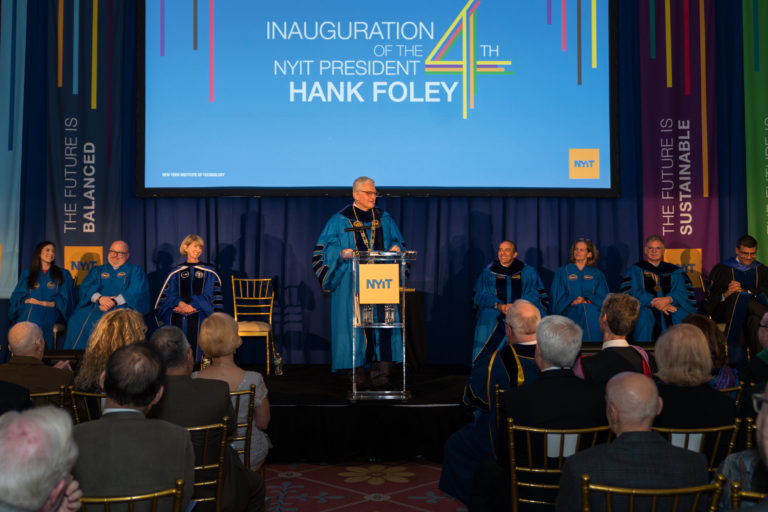 Plandome's Hank Foley installed as NYIT's fourth president