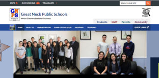 The Great Neck Public Schools district website is getting a makeover. (Photo courtesy of the Great Neck Public Schools)