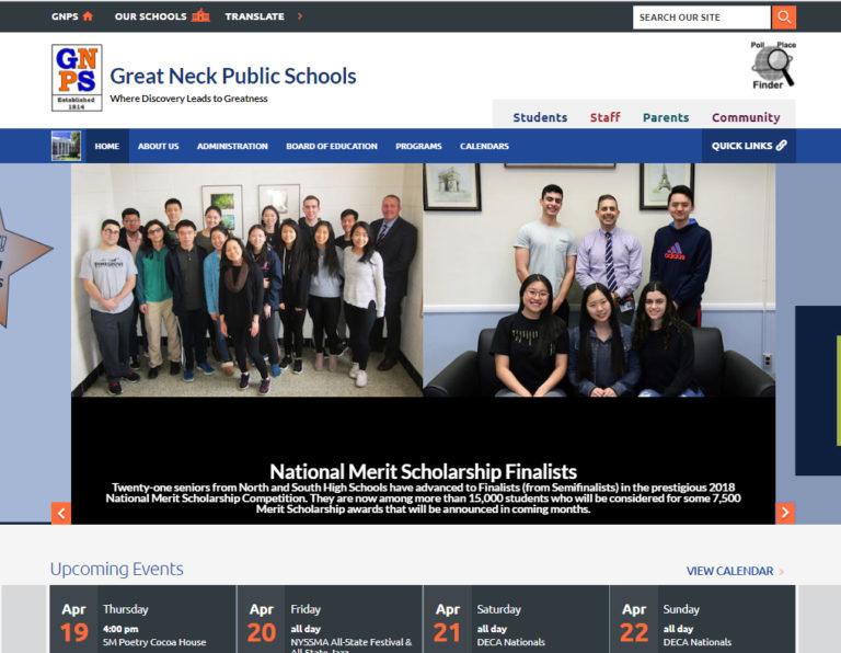 Great Neck Public Schools launching new website April 30