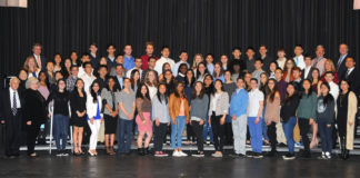 South High students were recognized by the Board of Education. (Photo by Irwin Mendlinger)
