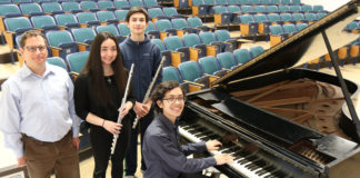 The South High School chamber music ensemble has been invited to perform at the 35th annual Young Musicians Concert of the Chamber Music Society of Lincoln Center. (Photo courtesy of the Great Neck Public Schools)