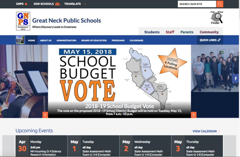 New Great Neck schools website goes online