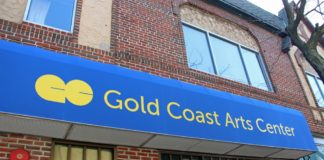 The Gold Coast Arts Center, as seen from Middle Neck Road, is the subject of a $15,000 grant that will go for arts outreach and scholarships. (Photo courtesy of the Gold Coast Arts Center)