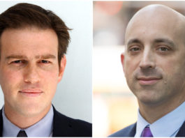 Bret Stephens and Jonathan Greenblatt will be speaking at Temple Israel. (Photos courtesy of Temple Israel)