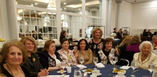 Hundreds of seniors had the chance to enjoy a meal and musical performances at a Mother's Day luncheon hosted by SHAI. (Photo courtesy of SHAI)