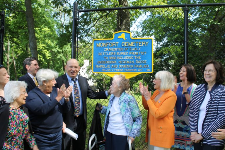 Town unveils historical marker at centuries-old cemetery