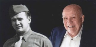 World War II veteran Mort Zimmerman, now 95, will be the Grand Marshal of the Great Neck memorial parade. (Photos courtesy of Zimmerman/Edelson)