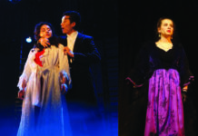 Daisy Korman, Dinghuan Li, and Ashley Schlusselberg in North High's production of The Phantom of the Opera. (Photo courtesy of the Great Neck Public Schools)