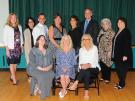 Great Neck Public Schools 25-Year Employees were recognized by the Board of Education and the district's professional associations. (Photo by Irwin Mendlinger)