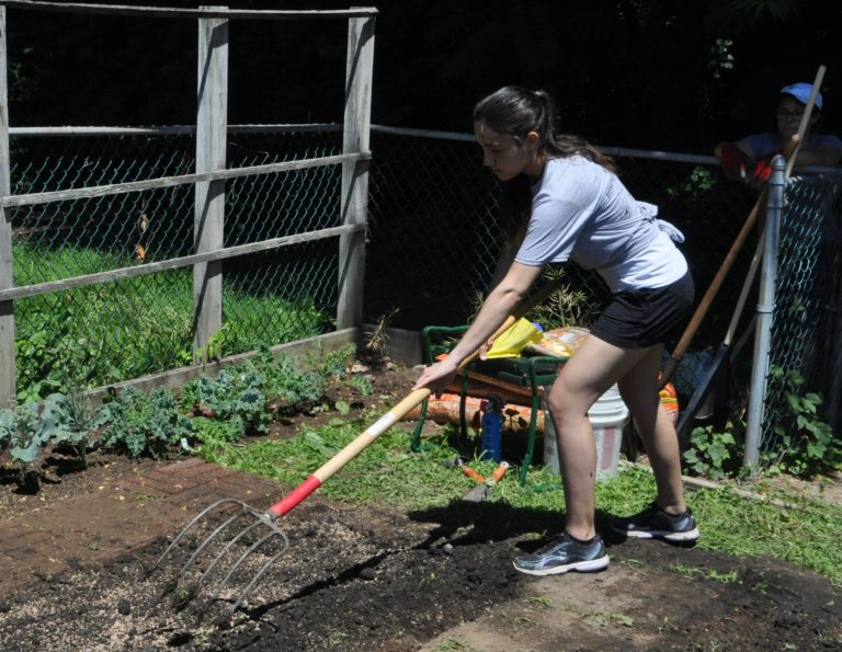 A garden grows at the Helen Keller National Center