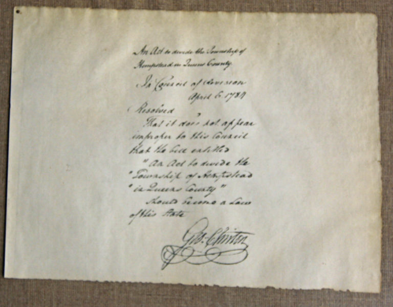 The North Shore had its own declaration of independence in 1775