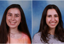 Amy Shteyman and Natasha Dilamani, the valedictorian and salutatorian at Great Neck North High School, both embarked on scientific research. (Photos courtesy of the Great Neck Public Schools)
