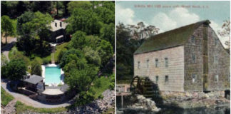 The Brickman Estate, at the tip of Kings Point, was the topic of a well-attended meeting of the Historical Society earlier this year. The Saddle Rock Grist Mill, meanwhile, is the subject of a preservation campaign by the organization. (Photos courtesy of the Great Neck Historical Society)
