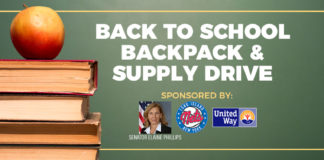 Great Neck Library locations will be participating in the Back to School Supply Drive through Sen. Elaine Phillips' Office, the LI Nets, and United Way. (Photo courtesy of the Great Neck Library)