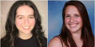 Rachel Rothbaum and Austyn Durham are the respective winners of the Alan L. Gleitsman Outstanding Graduate Award and Genelle Taney Memorial Award. (Photos courtesy of the Great Neck Public Schools)